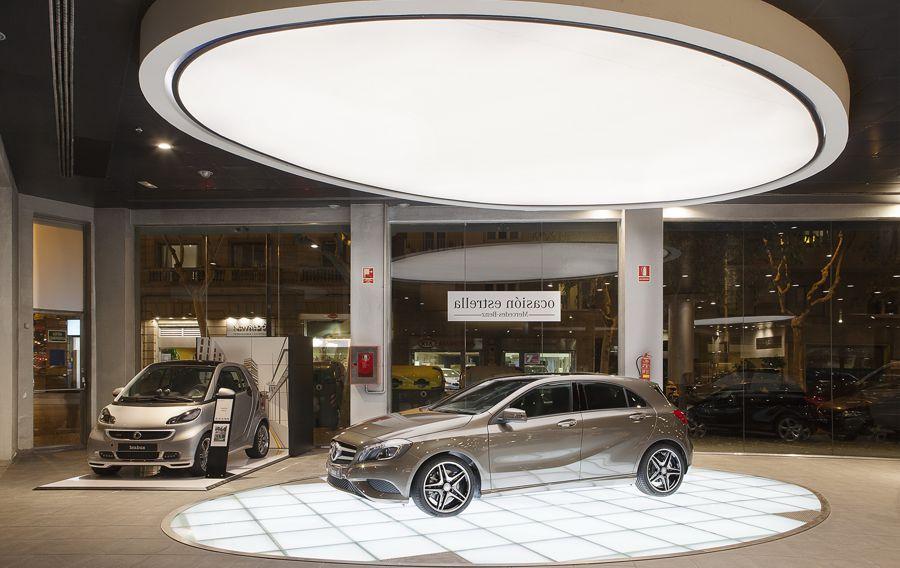 Mercedes benz car dealership sagitario lighting for Mercedes benz car dealership